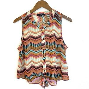 FOREVER 21 Chevron Top, Large